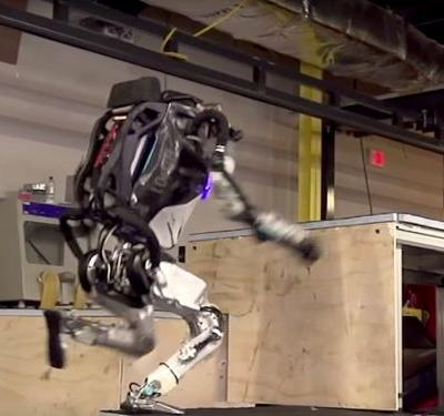 Boston Dynamics' humanoid robot can now jump up stairs like a parkour pro