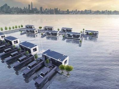 Floating homes that can withstand Category 4 hurricanes will soon become a reality