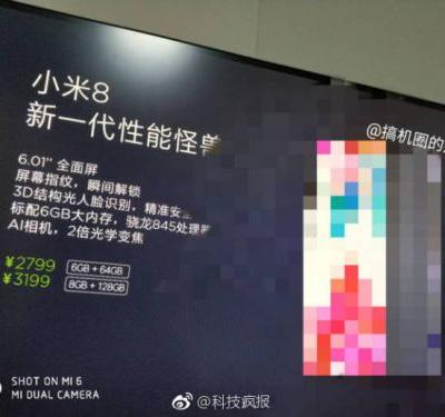 Xiaomi Mi 8 Specs & Pricing Leak Ahead Of Launch Event