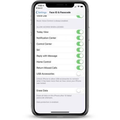 How to Access Controls for USB Restricted Mode in iOS 12