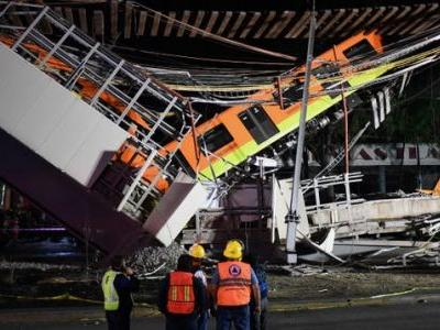 A Bridge Collapse In Mexico City Derailed Two Metro Cars And Left At Least 24 Dead