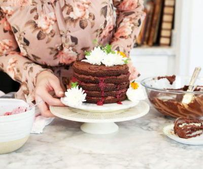 Sweet Laurel's Grain-Free Chocolate Raspberry Cake
