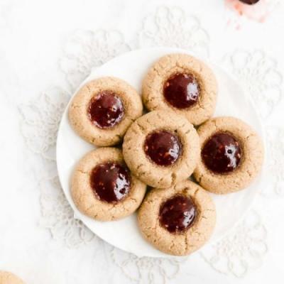 Healthy Spiced Thumbprint Cookies