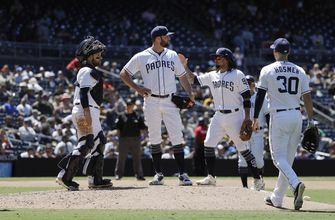 Lyles comes within 5 outs of Padres' first perfect game