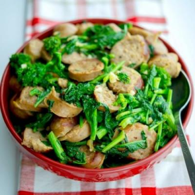 Sausage with Broccoli Rabe