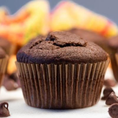 Easy Vegan Double Chocolate Muffins