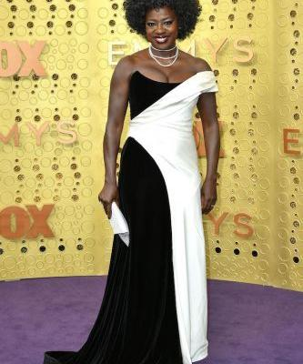 Viola Davis' Emmys Dress Is the Sartorial Version of a Black and White Cookie