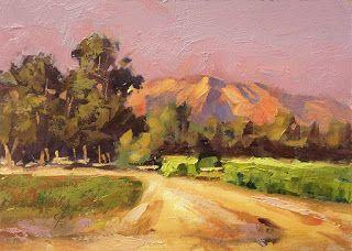 COLORFUL CALIFORNIA IMPRESSIONIST LANDSCAPE by TOM BROWN