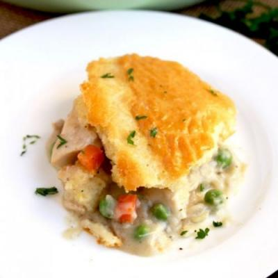 Turkey Pot Pie w/ Biscuit Topping