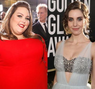 Chrissy Metz denies calling Alison Brie a 'b--' on the Golden Globes red carpet