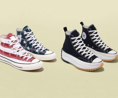 JW Anderson and Converse Launch American Flag-Covered Grid and Black Run Hike Sneakers