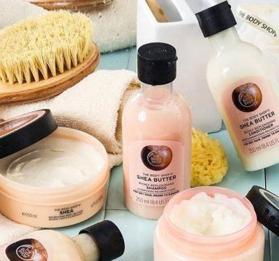 The Body Shop's new shea butter shampoo and conditioner nourish my hair extremely well, and the shea butter itself is ethically sourced