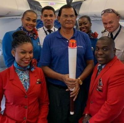 Air Seychelles welcomes 10th Indian Ocean Island games torch