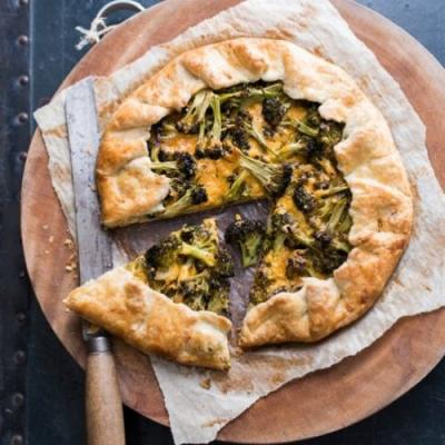 Broccoli & cheese galette