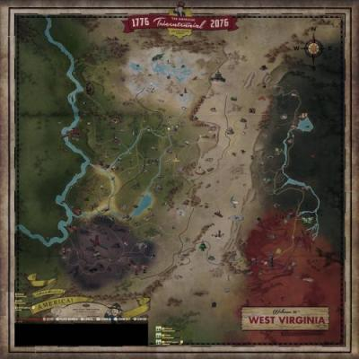 Take a full look at Fallout 76's diverse map