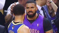 People Had A Lot To Say About How Drake Trolled Steph Curry At The NBA Finals