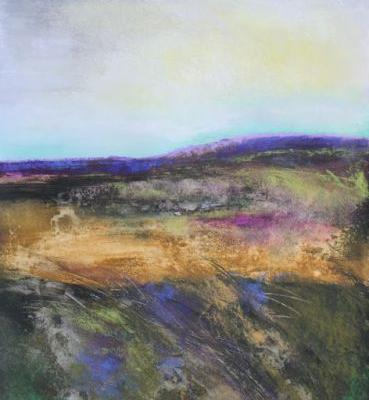 January Field One, large, abstract landscape by Carol Engles