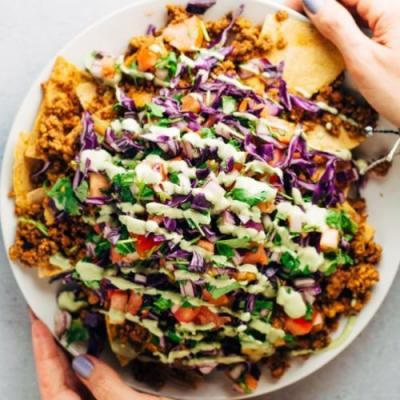 Vegan Loaded Nachos