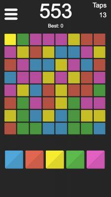 Under the Radar: Flip colors to clear the board in Flood GRIBB, available from Google Play