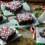 Peppermint Mocha White Chocolate Chip Fudge Brownies