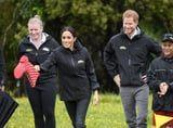 Harry and Meghan Got Adorably Competitive While Tossing Boots Around in New Zealand