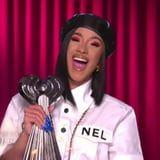 All Hail Cardi B, Reigning Hip-Hop Artist of the Year, and Her Cranberry Cat Eye