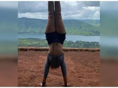 Aamir Khan's daughter Ira pulls off handstand during workout session in Panchgani. See post