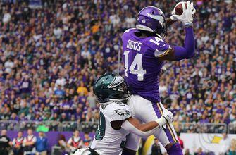 Stefon Diggs 3 TD's give the Vikings 38-20 victory over the Eagles