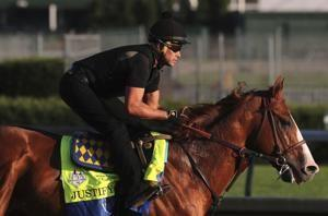 Justify gallops in preparation for Belmont and Triple Crown