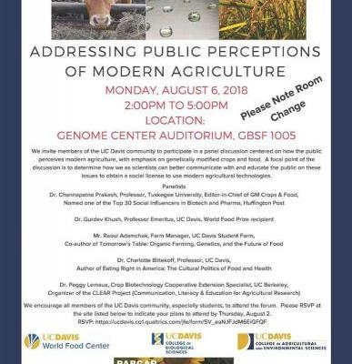 Panel: Addressing Public Perceptions of Modern Agriculture