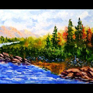 Mark Webster - Impressionist Landscape - Abstract Acrylic Painting