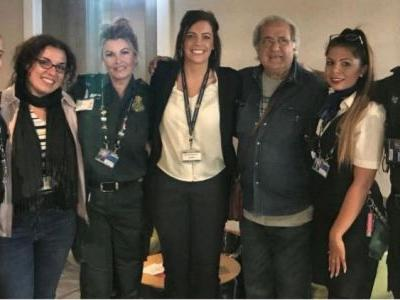 Tourist reunited with life-saving airport team