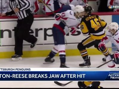 NHL Player Safety Dept. will hold hearing for Tom Wilson hit that left Penguins' Zach Aston-Reese with concussion, broken jaw