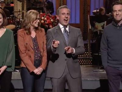 The Office Cast Begs Steve Carell to Reboot the Show During SNL Open