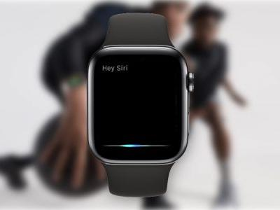 Siri waveform animation on Apple Watch Series 4 responds dynamically to the sound of your voice