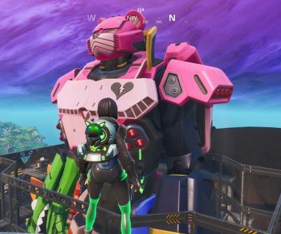 There's a giant pink robot in Fortnite now