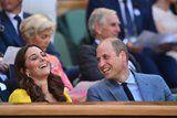 Kate Middleton Can't Stop Giggling With Prince William During Their Wimbledon Day Date