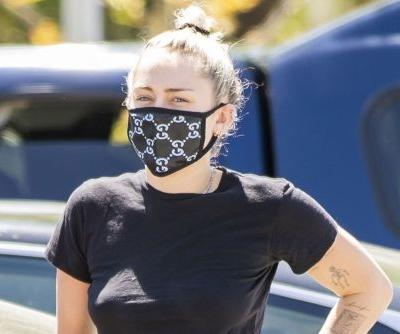 Miley Cyrus fights coronavirus with fashion in Gucci face mask