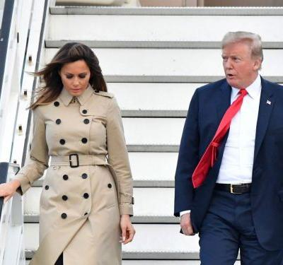 A rumor that Melania Trump has a body double has been reignited after these images of her leaving Air Force One surfaced
