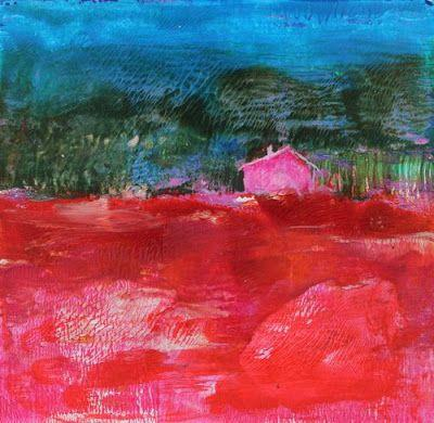 """Contemporary Landscape, """"Little Cabin in the Woods,"""" by Amy Whitehouse"""