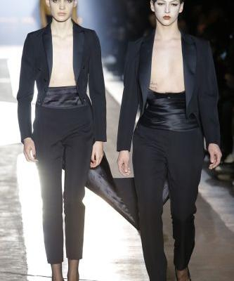 Violet Chachki just closed the Moschino show in a cojoined suit