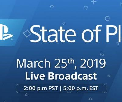Sony will stream new game announcements on March 25th in State of Play broadcast