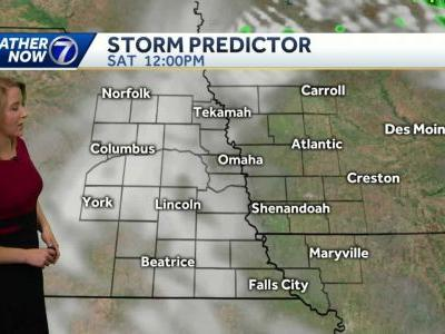Strong storms early, isolated storms possible tonight