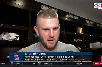 Adams credits bat on two-home run night: 'It felt good in my hands, so I stuck with that'