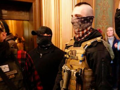 Anti-lockdown protesters in Michigan brought rifles and weapons into the state capitol