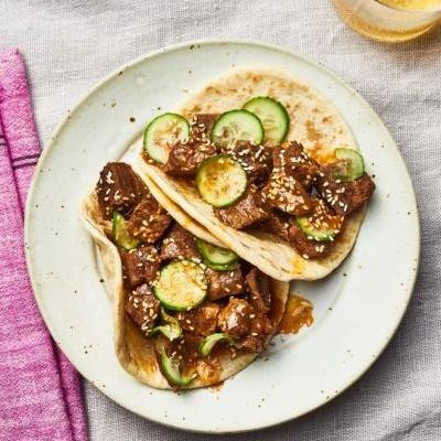 Recipe: Slow Cooker Korean BBQ-Style Beef Tacos