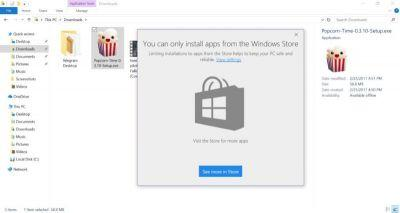 Windows 10 Creators Update can block Win32 apps if they're not from the Store