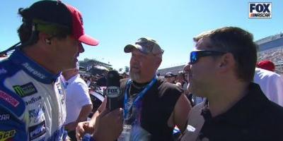 Watch Old NASCAR Man Michael Waltrip Get Owned On His Own Grid Walk