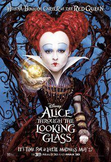 Does the Red Queen's face intentionally evoke Mickey Mouse?
