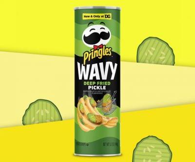 Pringles New Wavy Deep Fried Dill Pickle Is a Big Dill